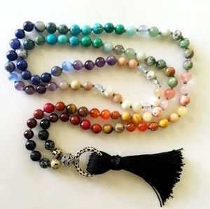Jewelry - Chakra 108 Mala Prayer Beads with Tassel